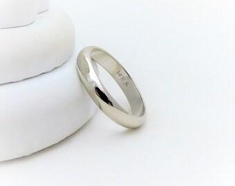 Ladies' 3mm 14k White Gold Wedding Band