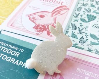 "Brooch ""Little white rabbit"""
