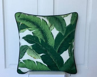 Tommy Bahama 45cm x 45cm Cushion / Pillow Cover Tropical Green Swaying  Palm