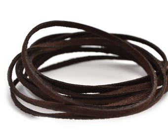 Suede 3 mm dark brown cord