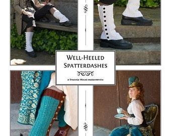 Well-Heeled Spatterdashes knitting pattern