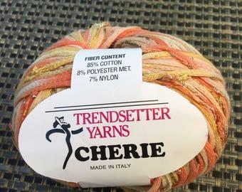 TRENDSETTER Cherie novelty yarn / 1 skeins // 1.76 oz each skein - DISCONTINUED