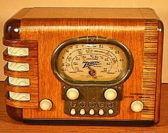 """ZENITH Model 5S-319 Art Deco Radio (1939) """"Racetrack"""""""