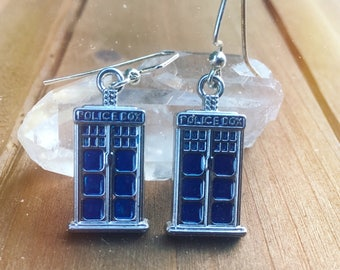 Doctor Who Inspired Tardis Earrings