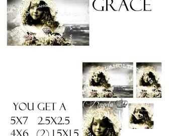Lilac Grace 2 Sheet Digi Photo Set