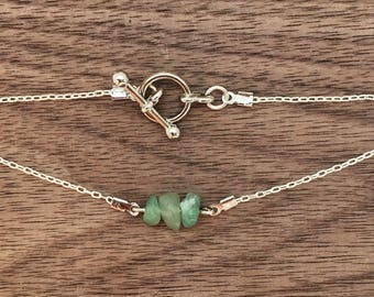 Dainty Bracelet also available as necklace Gemstone Bracelet Birthstone Bracelet Silver Chain Dainty Jewelry Bohemian Bracelet Unique