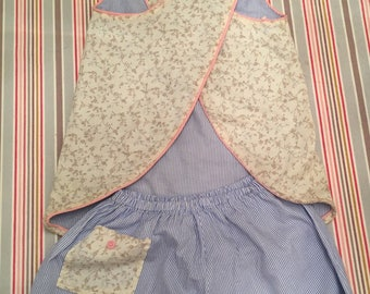 All Halter type apron and matching bloomers