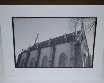 photo card, Loretto Chapel, Santa Fe, New Mexico