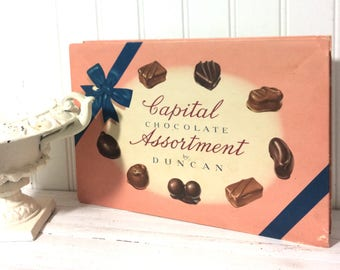 Great Vintage Pink Chocolate Box