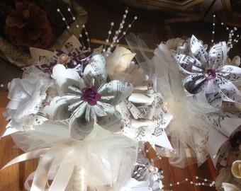 Origami Sheet Music Bouquet