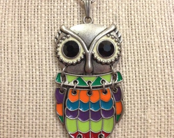 """24"""" Colorful Owl Necklace"""