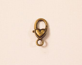 Heart lobster clasp large format