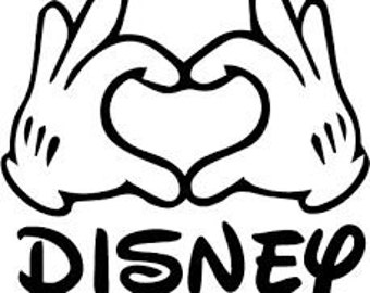 DIY Vinyl Decal, Mickey's Hand Forming a Heart, Disney Lover, Laptop Decal, Tablet Decal, Drinkware Decal, Yeti Mug Decal, Car Window Decal