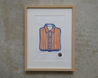 Linocut. The shirt (2 colors)