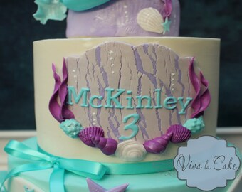 Under The Sea  edible name plaque for cake