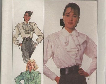 ON SALE ON Sale - 1980s Simplicity Pattern No 8179 for Misses Blouse Size 14  Bust 36 inches, Uncut, Factory Folded