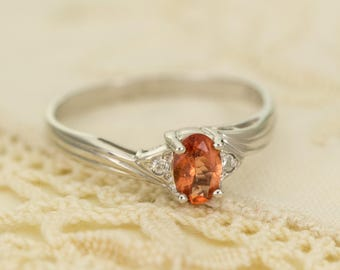 Oregon Sunstone in Sterling Silver Ring, Style VF
