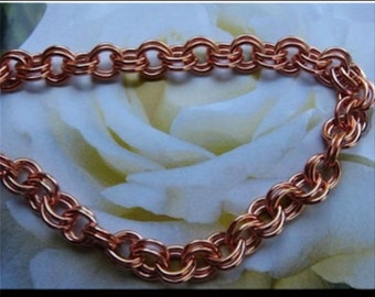 Solid Copper Chain Necklace CN682G - 5/16 of an inch wide. Available in 18 to 30 inches.