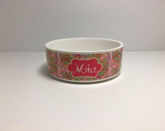 Lilly Pet Bowl | Custom Pet Bowl | Personalized Pet | Cat Bowl | Dog Bowl