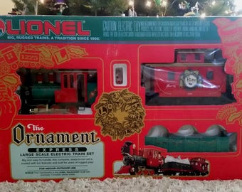 Vintage LIONEL Large G Scale The Ornament Express Christmas Train Set Model 8-81017