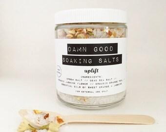 Damn Good Soaking Salts // Uplift -- 100% natural • detoxification • mineral-rich • bath salts
