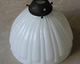 Vintage White Milk Glass Ceiling Shade