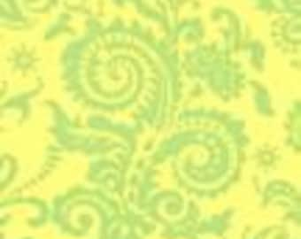 Amy Butler Nigella Collection Home Decor Weight  Wood Fern HDABS3 Color Gold All fabric is mailed Via Priority Mail.
