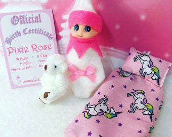 Baby Elf Pixie-Rose The Shelf Sitter Doll With Accessories