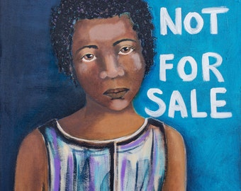 NOT FOR SALE, an 11 x 14 Print of Original Slave Painting