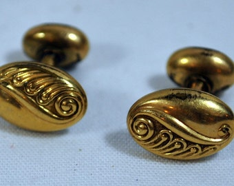 Victorian Cufflinks - Rolled Gold Cuff Links - Antique Men's Accessories