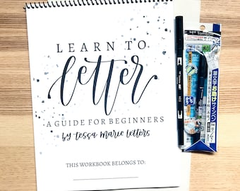 Learn to Letter Workbook for Beginners