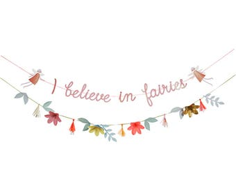 I Believe In Fairies Party Banner/ Fairy Party Banner/ Fairy Birthday Party Banner/ Fairy Party/ Fairy Party Banner/ Fairy Birthday Banner