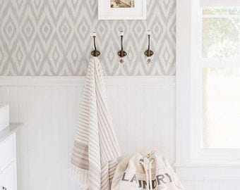 Ikat Gray Removable Wallpaper // Temporary Wallpaper