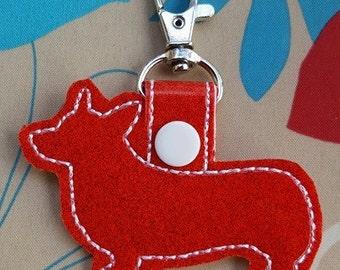 Corgi Keychain red