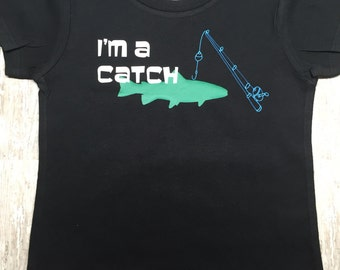 Fishing Shirt, Kids Fishing Tee, I Love Fishing, Fishing Toddler Shirt, I'm A Catch, Boys Fishing Shirt, Kids Shirt, Toddler Boy, Baby Boy