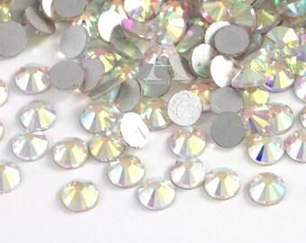 Crystal AB Glass Rhinestones for Embellishments 2-6mm