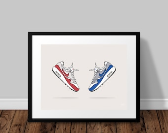 Nike Air Max 1 OG  |  Trainers Illustrated Poster Print   |   A5 A4 A3