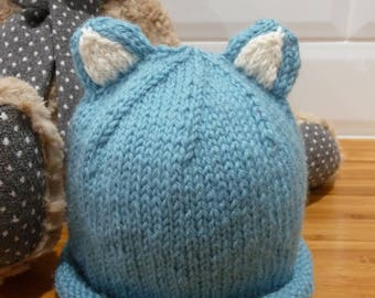 Turquoise Baby Ear Hat - 1830