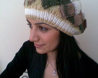 SALE SALE-Colored slouch hat-Behind baggy beret (autumn color)