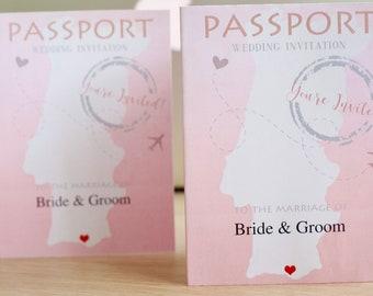 Wedding Passport Portugal, Digital File, Travel Theme Wedding, Travel Wedding, Destination Wedding, Wedding Invitations, Save the date.