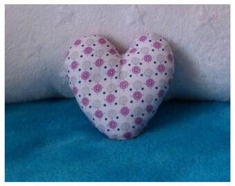Mini heart cushion: 11 x 11 cm
