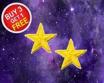 Lucky Star Patches Star Patches Patch Iron On Patch Embroidered Patches
