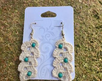 Arc Crochet Dangle Earrings