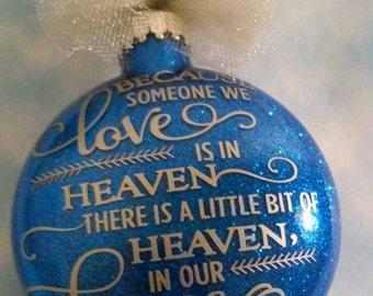 Custom Memorial Glitter Ornament