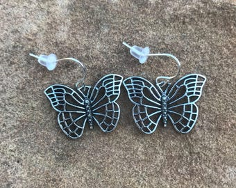 Butterfly Dangle Earrings - Drop Earrings - Jewelry - Accessories - Valentine's Day - Gift