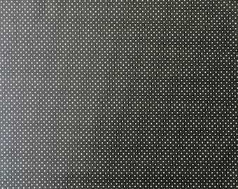 Oilcloth by the House, charcoal grey white dots