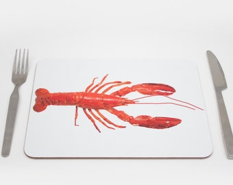 Lobster Placemats | Underwater Placmeat | Ocean Placemat | Nortical Placemat | Crab Tablemat | Childrens placemat | Kids placemat