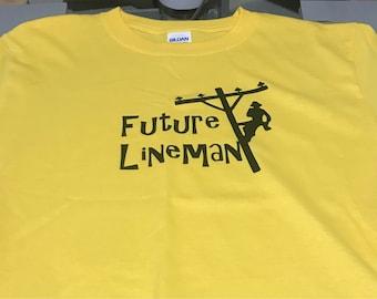 Future Lineman Kids T-Shirt
