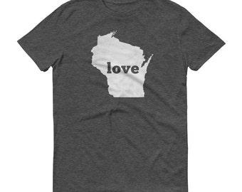 Wisconsin Shirt, Wisconsin TShirt, Wisconsin Love Shirt, Wisconsin State, Wisconsin Tee, State Pride, Gifts, Map, Shirt, TShirt, Tee, WI