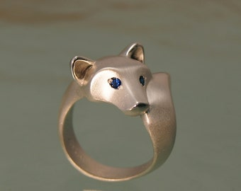 Shiba Inu.  silver. pick your favorite gemstone eyes